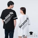 【OBIYUAN】短袖t恤 Necessarily 英文 印花 寬鬆 落肩 上衣 共2色【X1003】