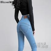 夏季薄款高腰牛仔褲女小腳褲提臀性感顯瘦緊身蜜桃臀鉛筆長褲 衣櫥秘密