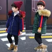 棉服-男童加厚冬季棉衣冬裝保暖外套新款中長款4中小童棉襖毛絨領 依夏嚴選