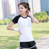 瑜伽服 健身房運動套裝女夏速干透氣專業晨跑裝備顯瘦兩件套韓版新 GB1002『愛尚生活館』