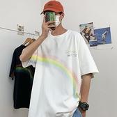 短袖t恤男士夏季2021新款潮牌ins港風純棉半袖體恤衫上衣服男裝CM5 幸福第一站