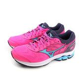 美津濃 Mizuno WAVE RIDER 21 慢跑鞋 運動鞋 桃紅色 女鞋 J1GD180323 no044