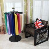 鐵藝絲巾展示架圍巾展示架服裝店可旋轉圓形架子布料架樣板陳列架 IGO