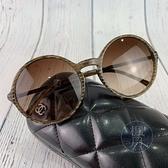 BRAND楓月 CHANEL 香奈兒 圓框墨鏡 太陽眼鏡 漸層鏡框 鏡腳小LOGO 遮陽 旅遊 配飾 配件 飾品 小物