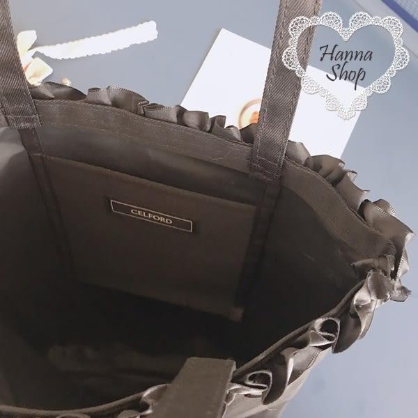 《花花創意会社》外流。BAILA黑色荷葉優雅購物包【H6213】
