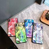 創意炫彩鉆石鐳射極光鋼化玻璃iphoneXSMAX手機殼適用蘋果7/8plus【韓衣舍】