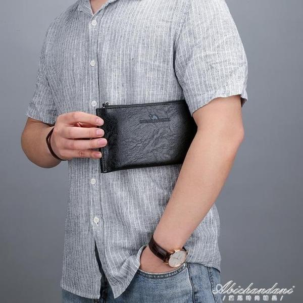 新款潮男士小號手拿包歐美男包包潮信封商務男錢包手包 黛尼時尚精品