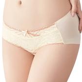 思薇爾-撩波系列M-XL蕾絲中低腰平口內褲(暖洋黃)