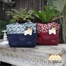 側背包~啵啵貓日系貓咪包 啵啵貓和風花布拼接側背包/肩背包/手提包/拼布包包
