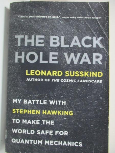 【書寶二手書T1/科學_B5R】The Black Hole War: My Battle With Stephen Hawking to…