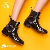 YUB雨鞋女休閑套鞋防滑防水靴短筒膠鞋 潮流小鋪