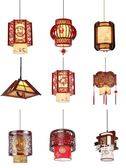 中式餐廳小吊燈創意樓梯過道走廊麻將燈復古吧臺單頭陽臺燈籠吊燈XW(一件免運)