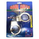 鐵手銬 金屬手銬 玩具手銬 仿真手銬 電鍍 警察手銬 囚犯 角色扮演 整人玩具【塔克】