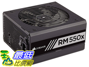 [8美國直購] CORSAIR RMX Series (2018), RM550x, 550 Watt, 80+ Gold Certified, Fully Modular