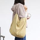 帆布袋 素色 大容量 手提包 方包 帆布包 單肩包 環保購物袋--手提包/單肩包【AL445】 BOBI  04/25