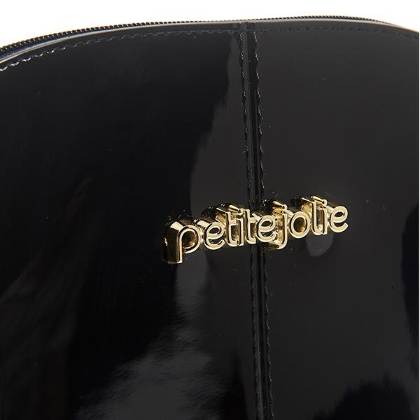 Petite Jolie  金屬LOGO可愛果凍貝殼包-黑色