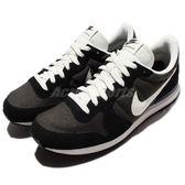 【六折特賣】Nike 復古慢跑鞋 Internationalist 黑 灰 白 麂皮網布 運動鞋 男鞋 【PUMP306】 828041-201