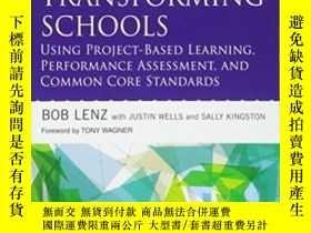 二手書博民逛書店Transforming罕見Schools Using Project-based Learning Perfor
