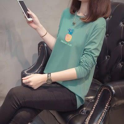 XL-4XL新款韓版秋冬裝特大碼洋氣長袖T恤棉花糖遮肚子上衣.2F060.3314胖胖唯依