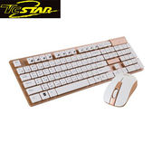 T.C.STAR 連鈺 TCK910GD 金色無線鍵盤滑鼠組 (TCK910+TCN535)