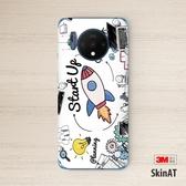 SkinAT OnePlus 7T機身防刮背膜 一加7T手機貼膜 創意彩膜貼紙 麥琪精品屋
