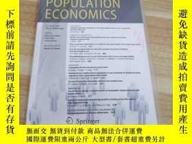 二手書博民逛書店《POPULATION罕見ECONOMICS》Volume 29