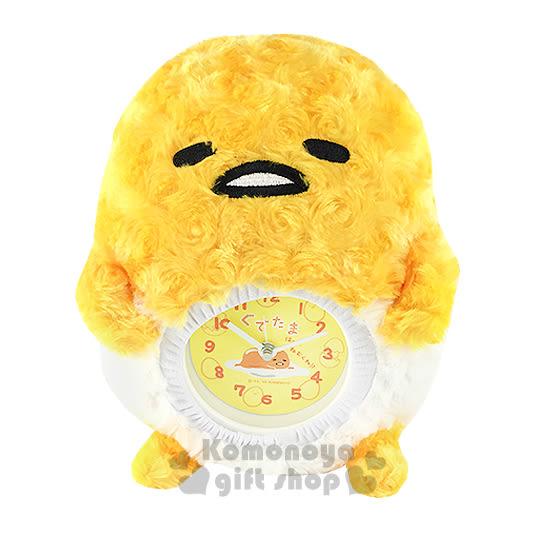 〔小禮堂〕蛋黃哥 造型絨毛壁掛鐘《黃.蛋形.盒裝》造型可愛迷人 4901610-97338