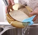 創意笑臉可夾式洗米瀝水器瓜果蔬菜穀物雜物過濾器