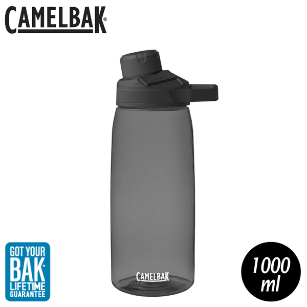 【CamelBak 美國 1000ml Chute Mag戶外運動水瓶《炭黑》】1513001001/水壺/隨身瓶