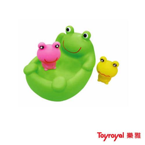 【奇買親子購物網】樂雅Toy Royal軟膠洗澡組-青蛙
