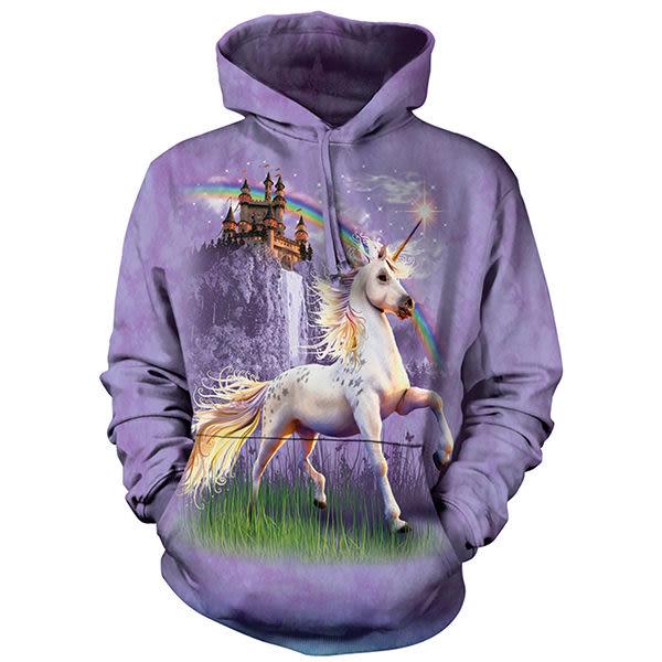『摩達客』 (現貨) 美國進口【The Mountain】獨角獸城堡 長袖連帽T恤(10514045052)
