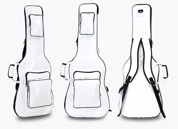 【非凡樂器】『超高品質 白色皮面防水 電吉他厚琴袋』台灣製造