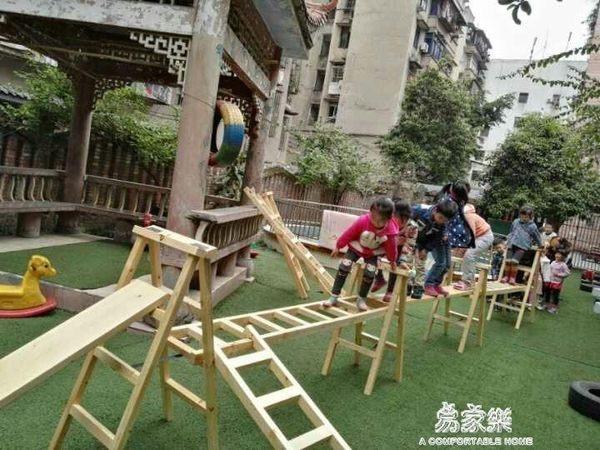 加厚實木梯子 家用上下鋪爬梯\戶外直梯梯子\幼兒園木梯\安吉游戲igo   易家樂
