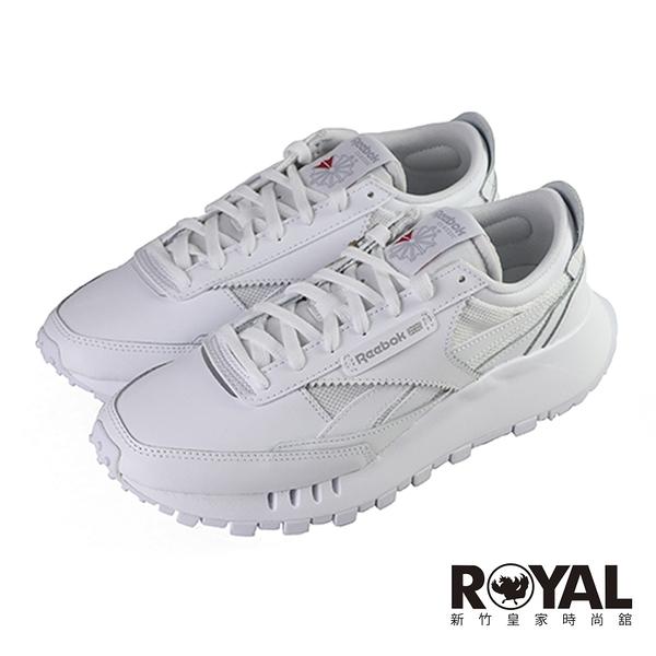 Reebok Junior 白色 皮質 休閒運動鞋 女款 NO.J0686【新竹皇家 FX2551】