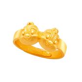 奇蒂同心尾戒-迪士尼系列金飾-奇奇蒂蒂黃金戒指