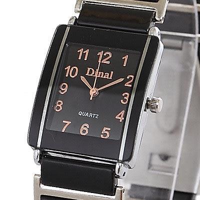 【Bethoven】黑曜雷達 名牌經典時尚腕錶x金時標-黑24x28mm