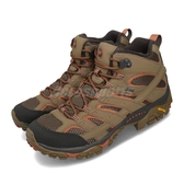 Merrell 戶外鞋 Moab 2 Mid GTX 灰 綠 男鞋 Vibram大底 健行 登山鞋 【ACS】 ML65463