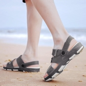 秒殺涼鞋-新款夏季男士涼鞋韓版輕質防滑耐磨沙灘鞋涼拖兩用休閒洞洞鞋 交換禮物