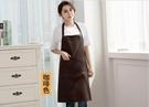 圍裙 圍裙廚房防水圍裙工作服 圍裙韓版時...