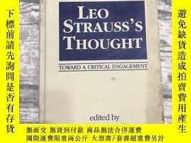 二手書博民逛書店Leo罕見Strauss's Thought toward a