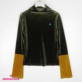 【SHOWCASE】星星別針袖配色絨毛上衣(綠)