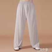 太極褲 牛奶絲太極褲女武術褲蘿卜褲太極拳練功褲寬鬆瑜伽褲燈籠褲男 阿薩布魯