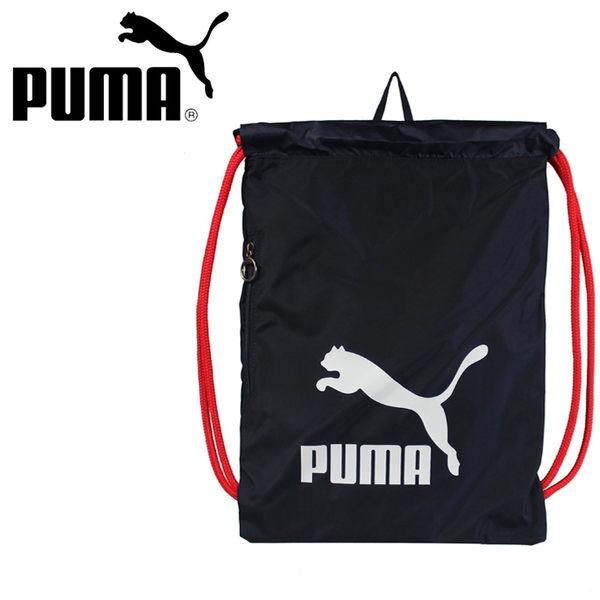 【橘子包包館】PUMA 束口袋/束口後背包 07481215 深藍