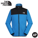 【The North Face 男 刷毛外套《天空藍》】49AE/夾克/輕柔刷毛抓絨保暖/中層衣