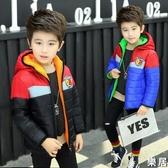 男童棉服 2019冬季新款兒童短款棉衣中大童加厚連帽洋氣棉襖潮外套【快速出貨】
