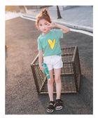 女童短袖t恤2018新款夏裝兒童純棉半袖洋氣中大童體恤上衣韓版潮 晴天時尚館