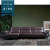 【新竹清祥傢俱】PLS-07LS105-現代時尚L型牛皮沙發 現代 時尚 客廳 沙發 多人 風格 L型