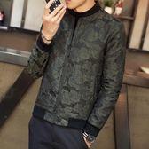 夾克外套-棒球領韓版時尚帥氣休閒夾棉男外套3色73qa26[時尚巴黎]