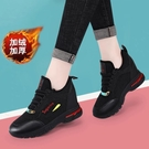 增高鞋女 黑色內增高女鞋新款韓版百搭旅游運動跑步鞋 快速出貨