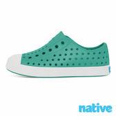 native JEFFERSON CHILD 奶油頭鞋-湖水綠x貝殼白(小童)